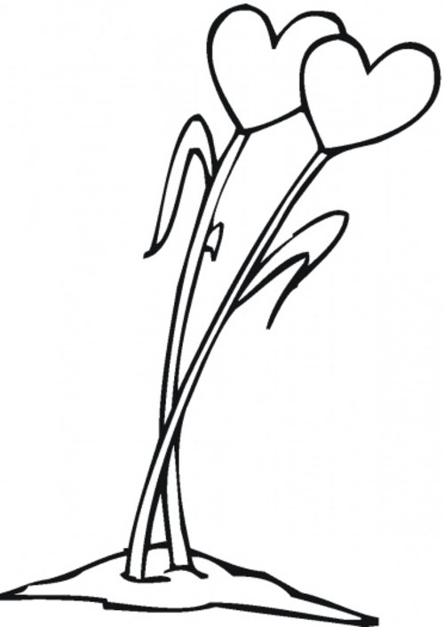Free Coloring Pages Hearts Flowers Coloring Pages For Kids