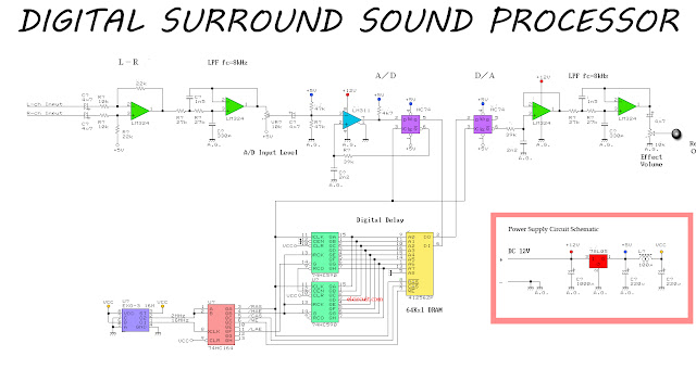 Simple Surround Sound Processor Circuit