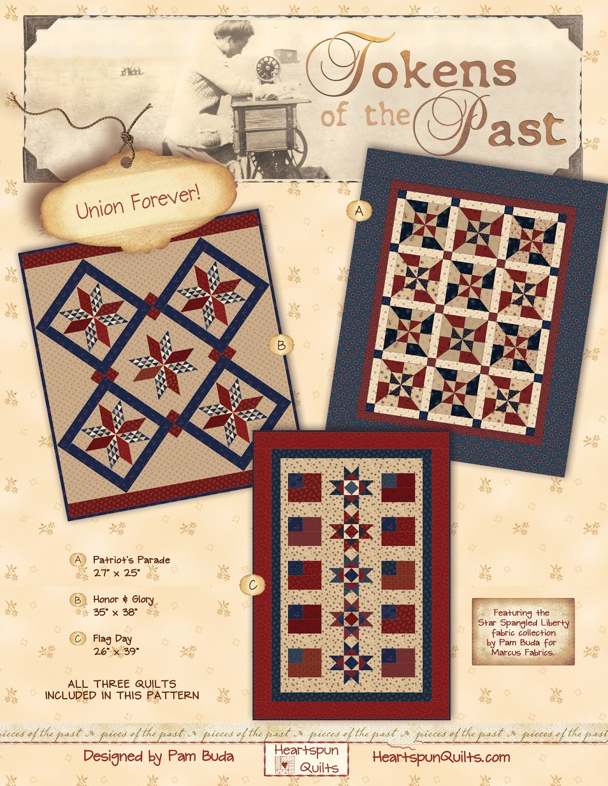 Heartspun Quilts Pam Buda Special Offer Tokens Union