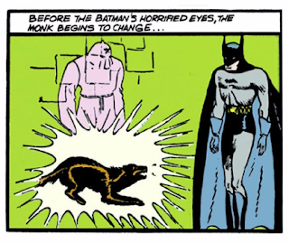 Detective Comics (1937) #32 Page 7 Panel 5: The Master Monk transforms into a wolf.