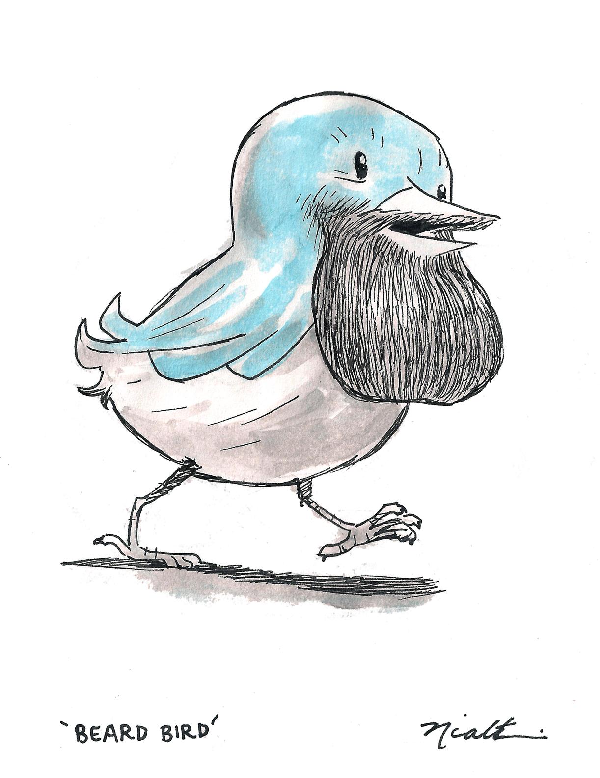 bird in beard