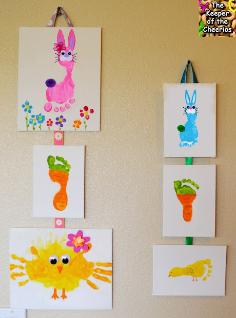 Hand and Footprint Easter Crafts