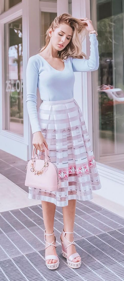 Feeling a little un-inspired? Need Fashion Inspiration for Spring? Have a look at these must-have cute spring outfits for pumping up your #OOTD pics! #springoutfits #fashion #style #cute