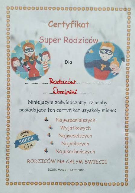 Certyfikat najlepszego rodzica