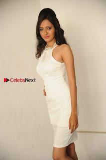 Kannada Actress Nidhi Latest Pos in White Short Dress at Vega Movie Launch Press Meet  0007.jpg