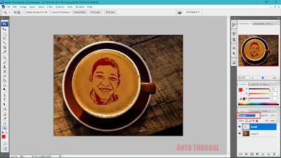 cara membuat efek latte art dengan photoshop