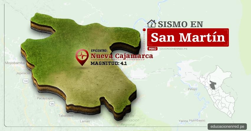 Temblor en San Martín de 4.1 Grados (Hoy Domingo 26 Febrero 2017) Sismo EPICENTRO Nueva Cajamarca - Rioja - Calzada - Moyobamba - IGP - www.igp.gob.pe