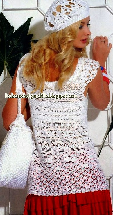 Blusa y boina encantadoras crochet