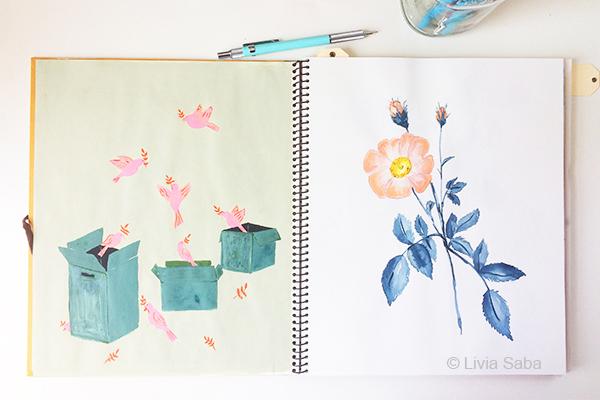 Livia Saba, Sketchbook Conversations, sketchbooks, Handmade Philosophy, My Giant Strawberry