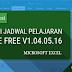 UPDATE : Download Aplikasi Jadwal Pelajaran Sekolah Gratis Berbasis Excel (JPKE Free V1.04.05.16)