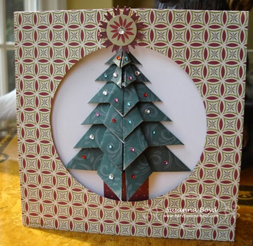 Origami Maniacs: Tea Bag Folding Christmas Tree Card - photo#43