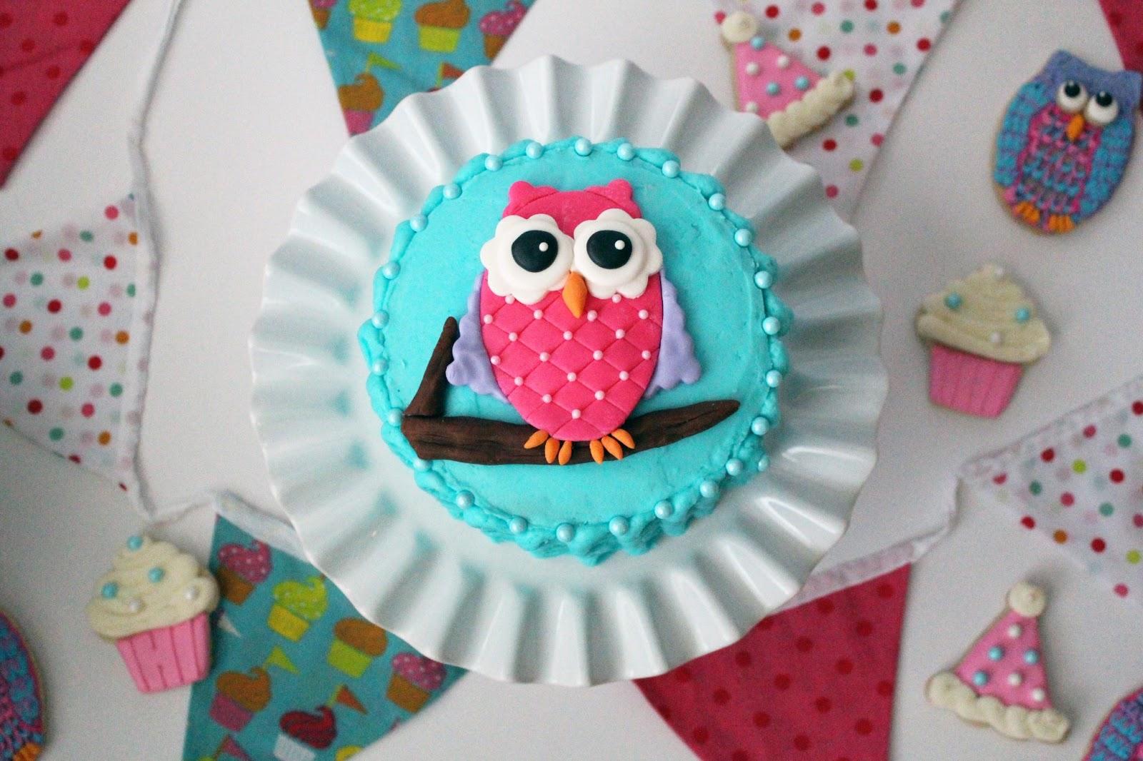 Pink Owl Cake Recipe