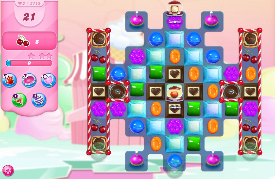 Candy Crush Saga level 5112