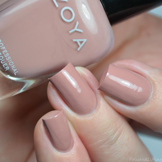 neutral muted pink creme nail polish