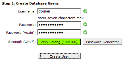 create a database.