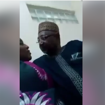 SCANDAL!! TOP ABUJA POLITICIAN CAUGHT IN HIS OFFICE Ro*MANCING ANOTHER WOMAN – WHAT HE DID TO THE WOMAN WILL SHOCK YOU (PHOTOS + VIDEO)