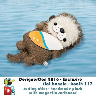 Designer Con 2016 Exclusive Surfing Otter Plush by Flat Bonnie