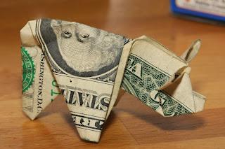 $137 in Origami Pigs