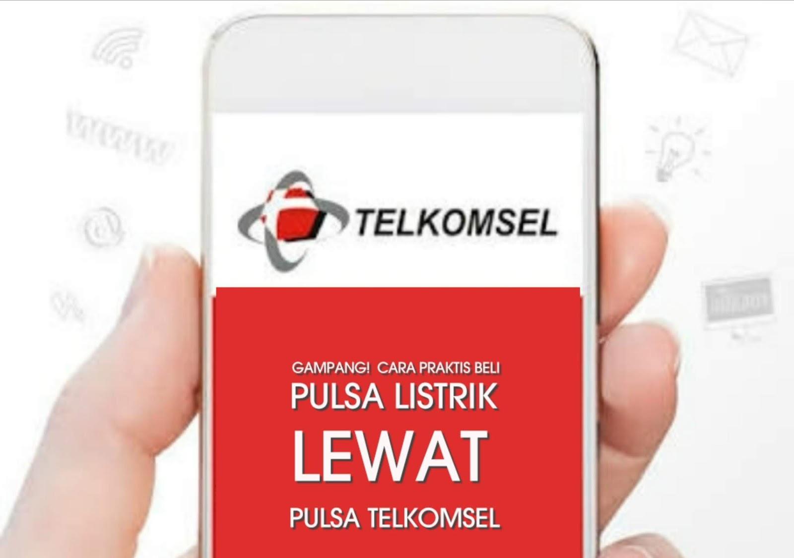 Cara beli pulsa listrik lewat pulsa Telkomsel