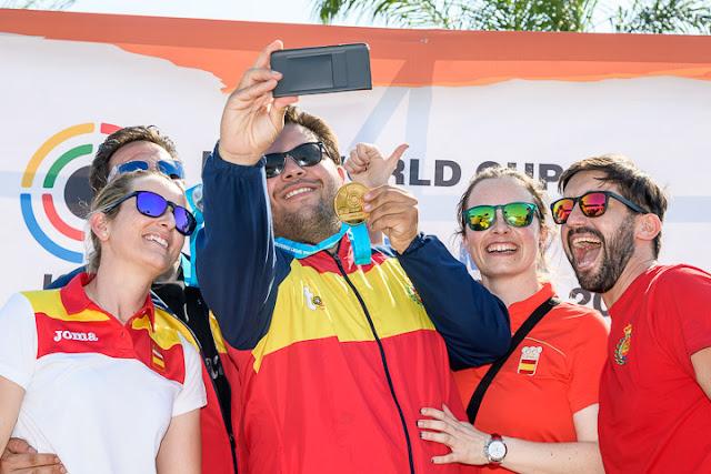 TIRO AL PLATO - Medallas y récord mundial español en la Copa del Mundo (Acapulco / México)