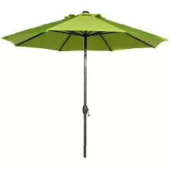 Abba Patio 9 Ft Outdoor Patio Table Aluminum Umbrella with Auto Tilt and Crank