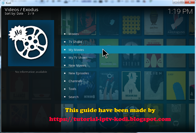 Installed exodus addon for kodi 17 crypton