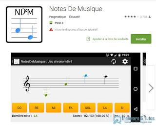 NotesDeMusique : jeu Android pour lire les notes de musique en s'amusant