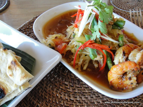 shrimp curry at Indus restaurant in Ubud, Bali, Indonesia