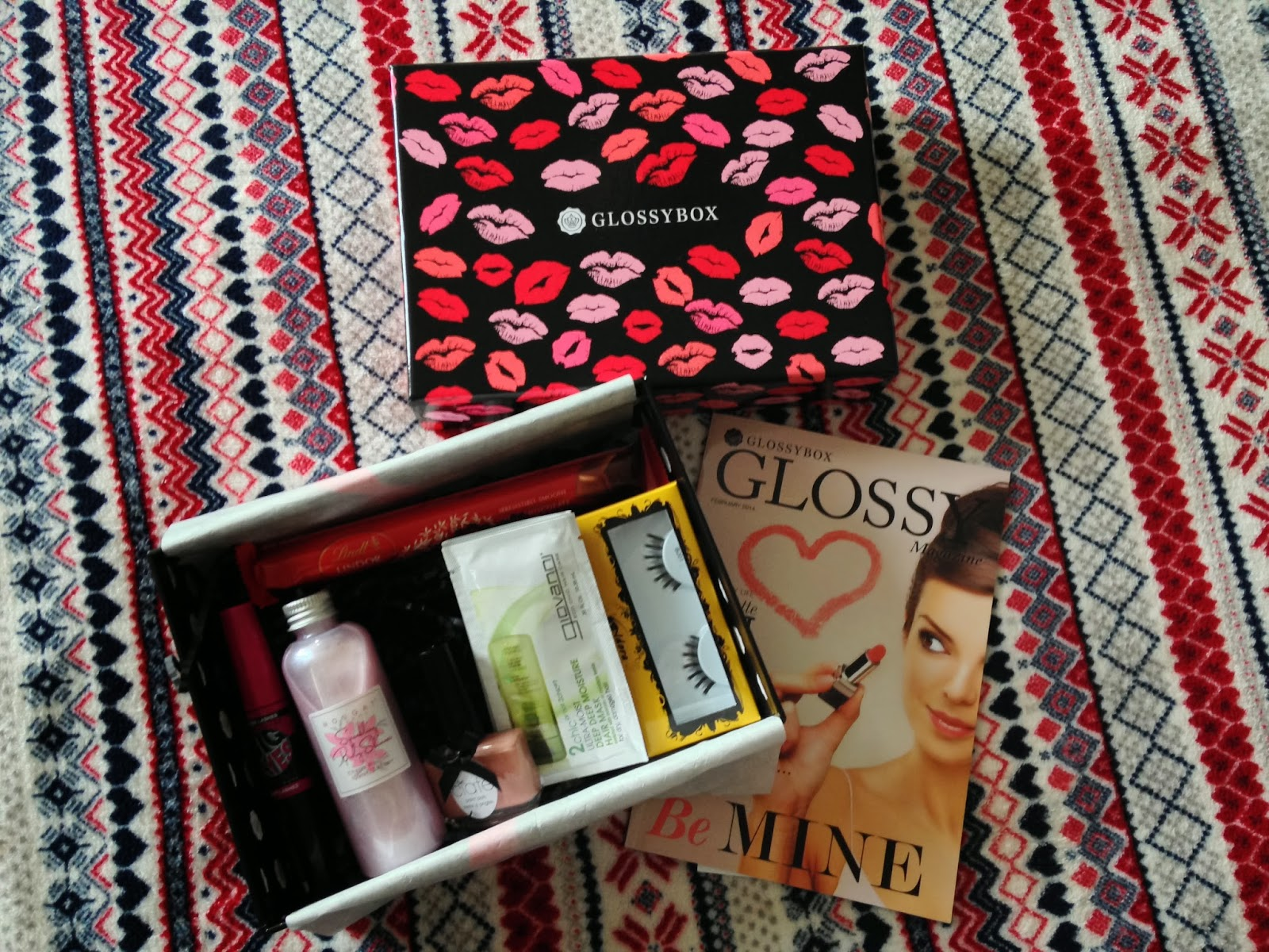 Glossybox contents Febraury 2014