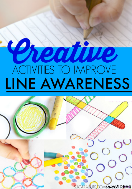 Creative activities to work on line awareness in handwriting