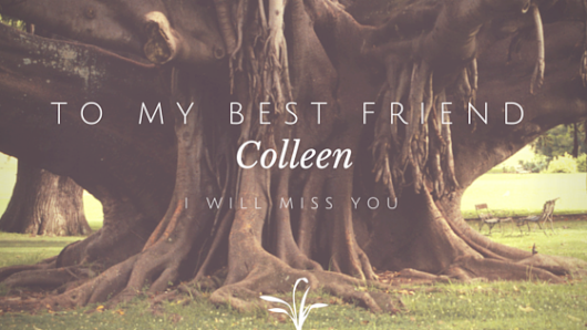 To My Best Friend Colleen: I Will Miss You
