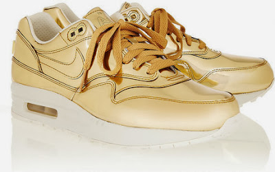 Nike Air Max Metallic Leather Sneaker Gold