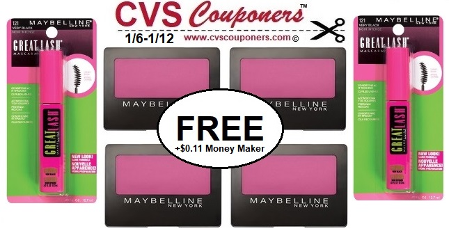 8a6f089fdde FREE Maybelline Mascara or Eye Shadow at CVS - 1/6-1/12 | CVS Couponers