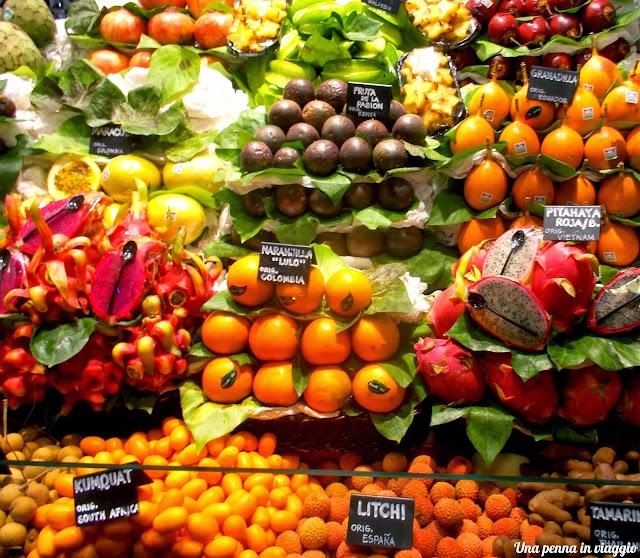 Il mercato della Boqueria Barcellona