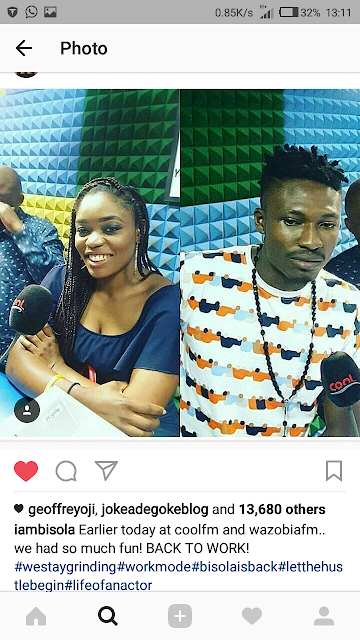 BBNaija: Efe and Bisola got back and starts their media tour