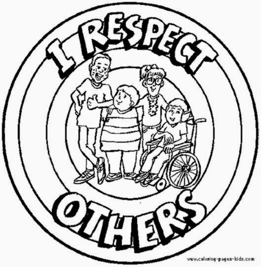 Respect coloring sheets free coloring sheet for Character counts coloring pages free