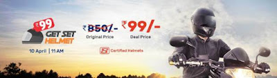 Droom Helmet Flash Sale On 10th April - Get Helmet At just Rs.99/-
