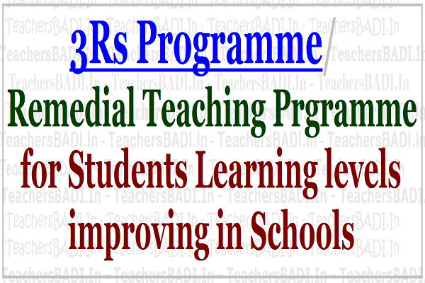3Rs Remedial Teaching Prgramme,Students Learning levels improving,AP Schools