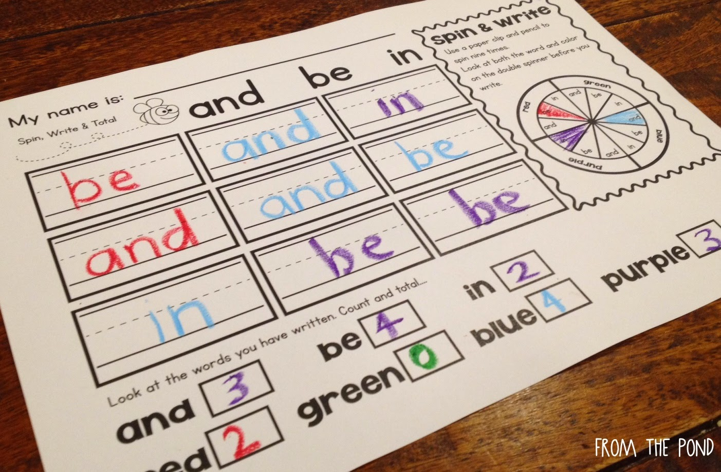 Sight Words Flip And Write