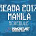 SEABA 2017 Manila Complete Schedule