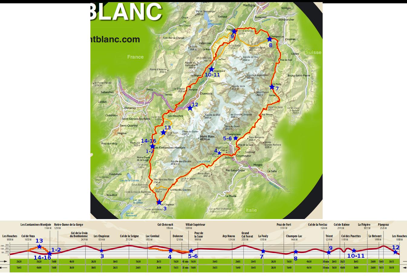 tour du mont blanc c mej 2016 itin 233 raire pr 233 vu