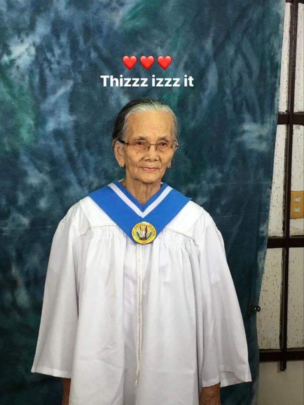80-year-old 'lola' achieves dream of graduating high school