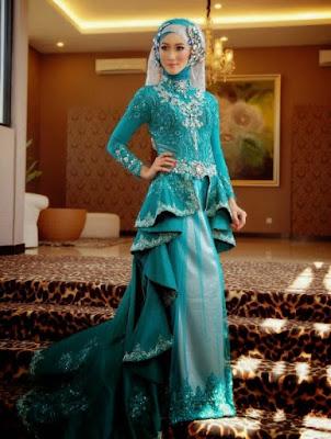 Contoh Kreasi Hijab Pada Kebaya Pesta Modern Terbaru 2017