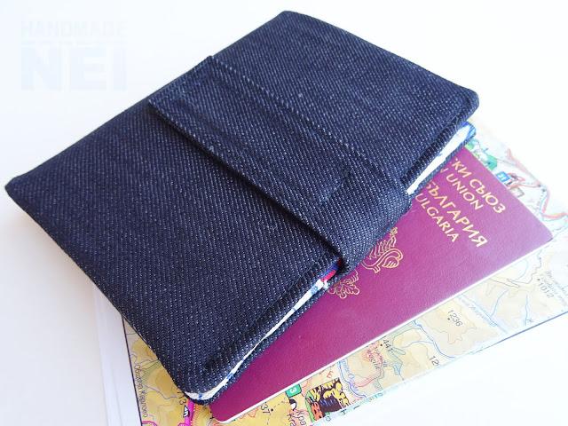 """Handmade Nel: Калъф за паспорт от плат """"Пътешествие"""""""