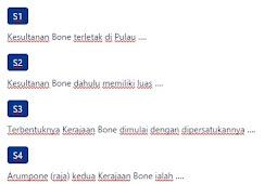 Contoh Soal Kerajaan Bone