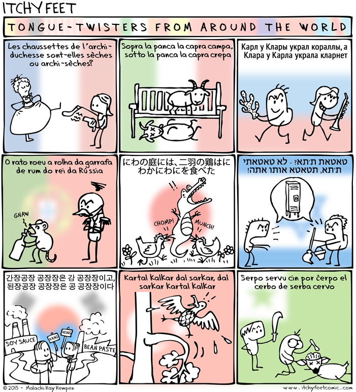 tongue-twisters from languages around the world