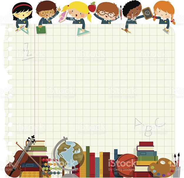 Kids Back To School Royaltyfree Stock Vector Art