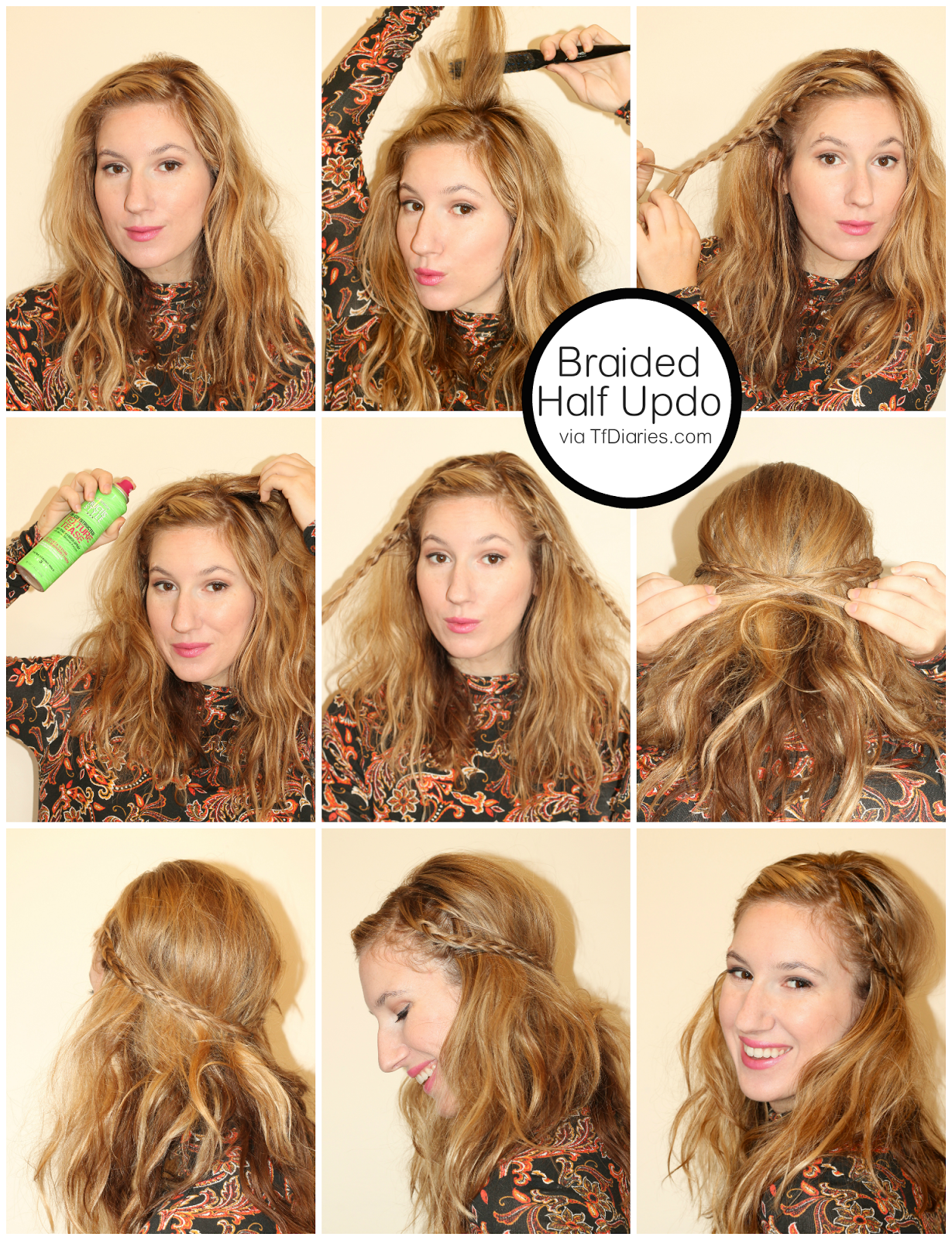 retro hair, dirty hair tutorial ideas, retro hair style, easy hair styles, tfdiaries, megan zietz, hair, trendy, fall 2014 hair