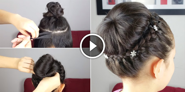 How To Create Braided Crown Hairstyle, See 5 Minute Tutorial