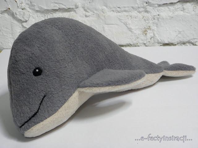 e-fectyinspiracji, ryba przytulanka, jak uszyć, zabawka dla dziecka, pomysl na prezent dla dziecka